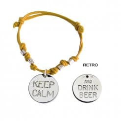 Braccialetto Keep Calm and Drink Beer